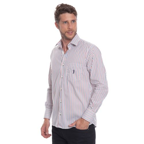 camisa-masculina-aleatory-social-branca-com-listras-marinho-vermelho-modelo-4-