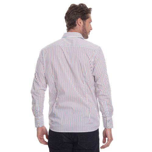 camisa-masculina-aleatory-social-branca-com-listras-marinho-vermelho-modelo-5-