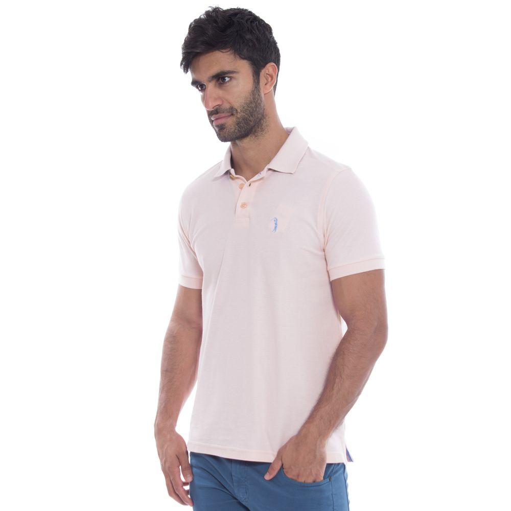 Camisa Polo Aleatory Piquet Light Rosa