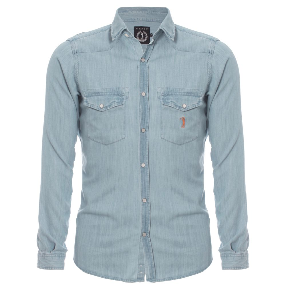 Camisa Aleatory Jeans Young Azul