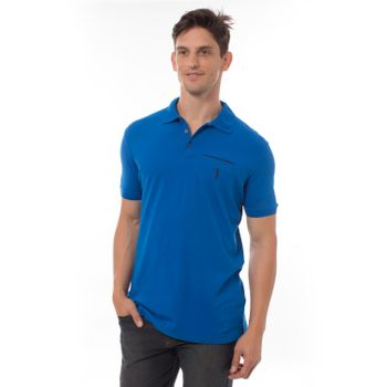 Camisa-Polo-Aleatory-Lycra-Lisa-Azul-metade