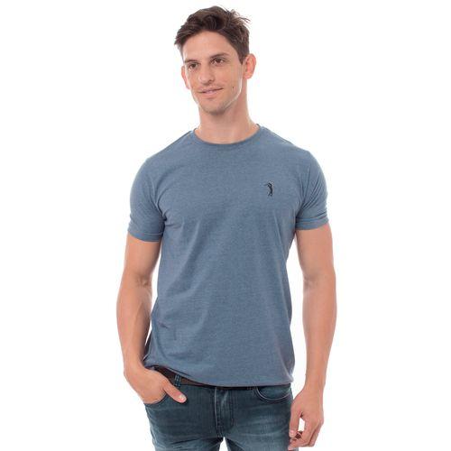 camiseta-aleatory-masculina-basica-new-mescla-azul-modelo-2-