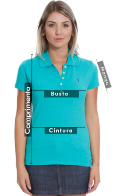 Camisa Polo Aleatory Lisa Feminina State - Aleatory 560c46353bfb5