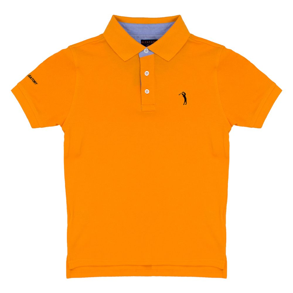 Camisa Polo Laranja Lisa Infantil Aleatory - Aleatory 78516a72a9311