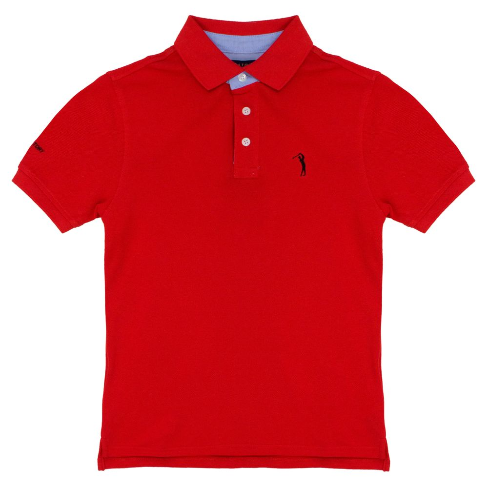 Camisa Polo Vermelha Lisa Infantil Aleatory - Aleatory 43c89c73e76e6