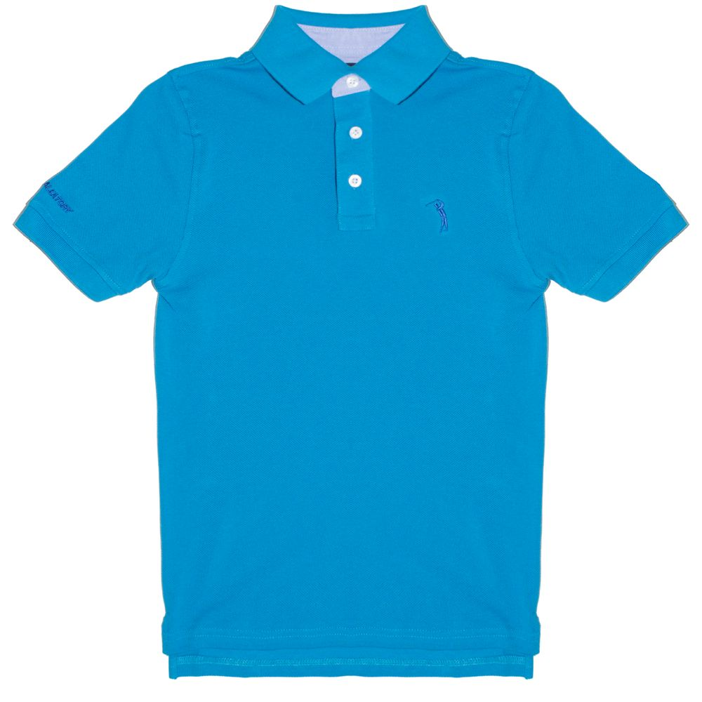 Camisa Polo Azul Lisa Infantil Aleatory - Aleatory 71d9de9abc86e