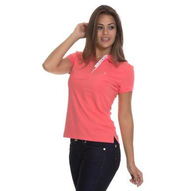 Camisa Polo Aleatory Feminina Preta Lisa Aleatory 3a2dbdcb86bb9
