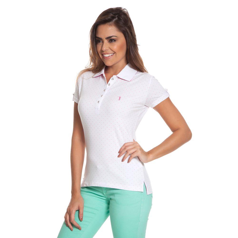 Camisa Polo Aleatory Feminina Mini Print Desert - Aleatory 83a53c71bd608