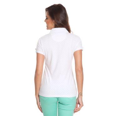 2e8edad8fb Camisa Polo Aleatory Feminina Mini Print Changes - Aleatory