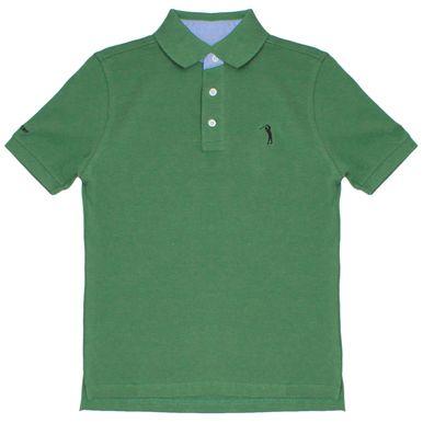 898e2e489 Camisa Polo Verde Lisa Infantil Aleatory - Aleatory