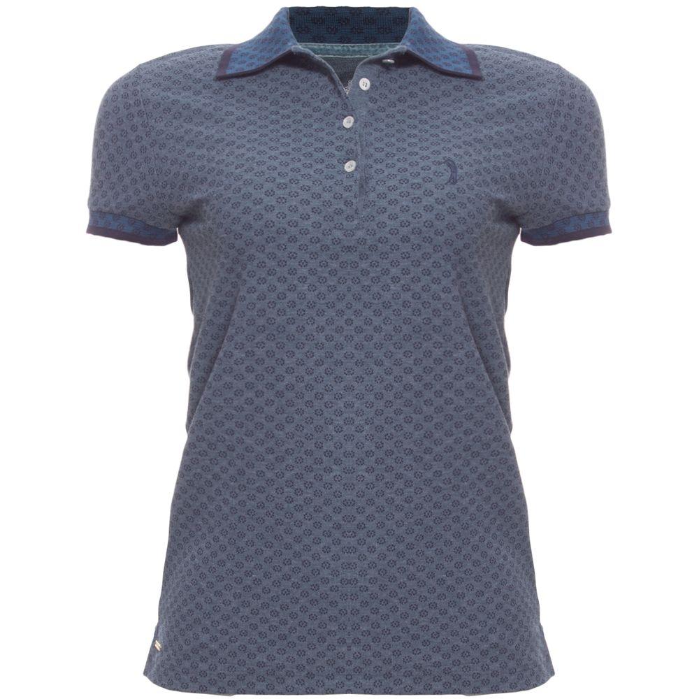 Camisa Polo Aleatory Feminina Mini Print Stay - Aleatory 27ee0798eeaf5