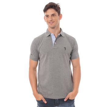 camisa-polo-aleatory-lisa-mescla-cinza-modelo-2-