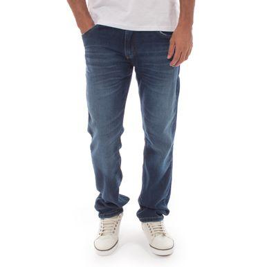 88733e269 Calça Moletom Com Efeito Jeans Aleatory Jump