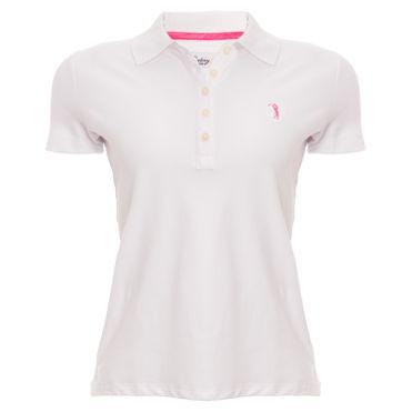 Camisa Polo Aleatory Feminina Branca Lisa 9c6702126188b