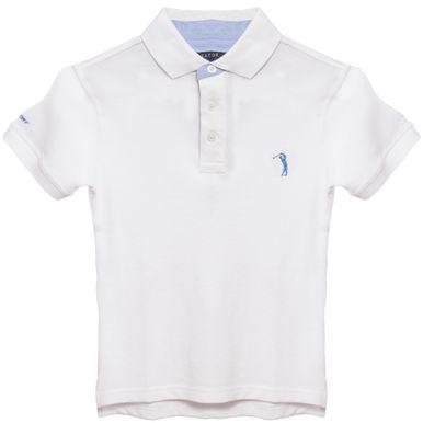 b15ae8608f Camisa Polo Branca Lisa Infantil Aleatory - Aleatory