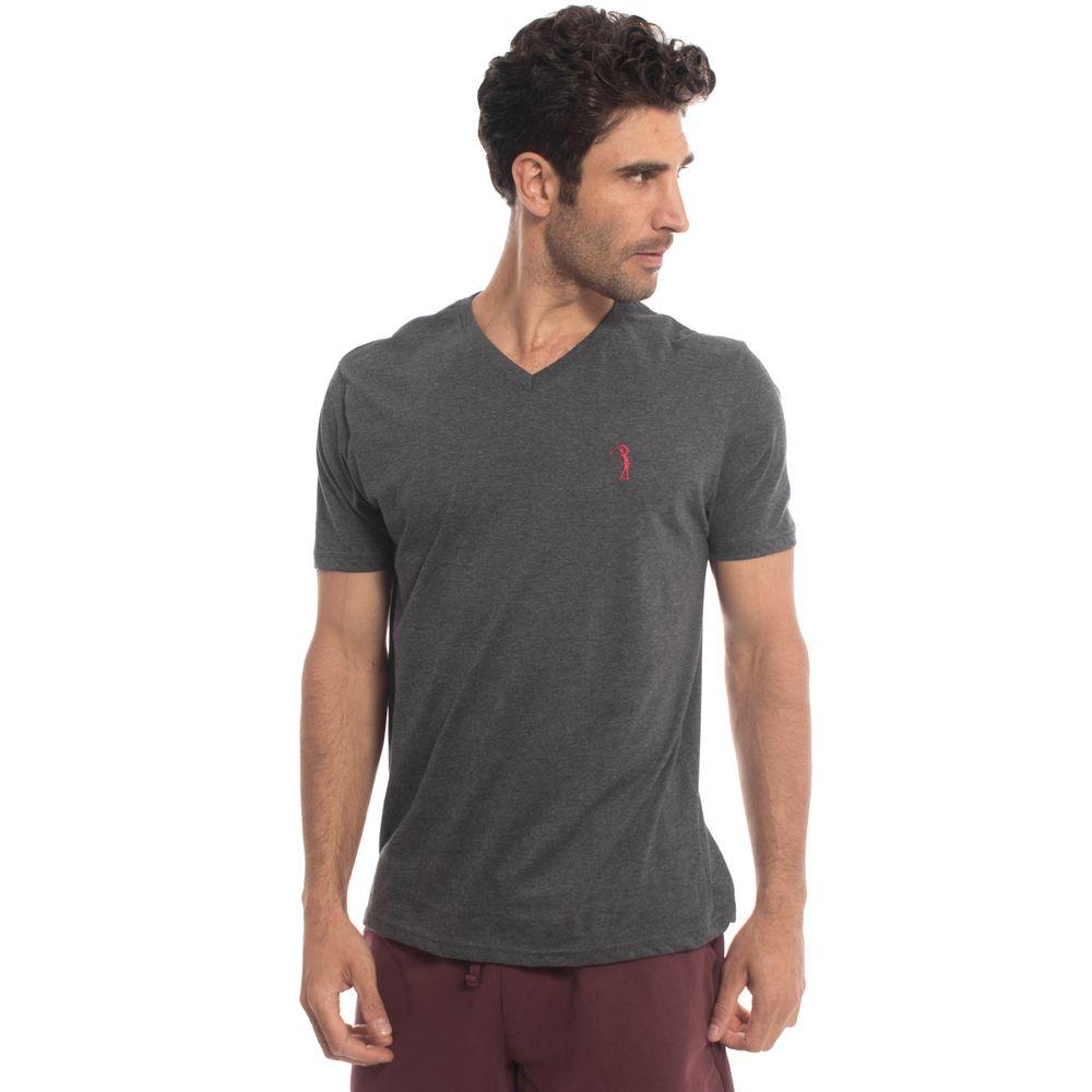 Camiseta Aleatory Lisa 1 2 Malha Gola V Mescla - Aleatory d7227244f3b