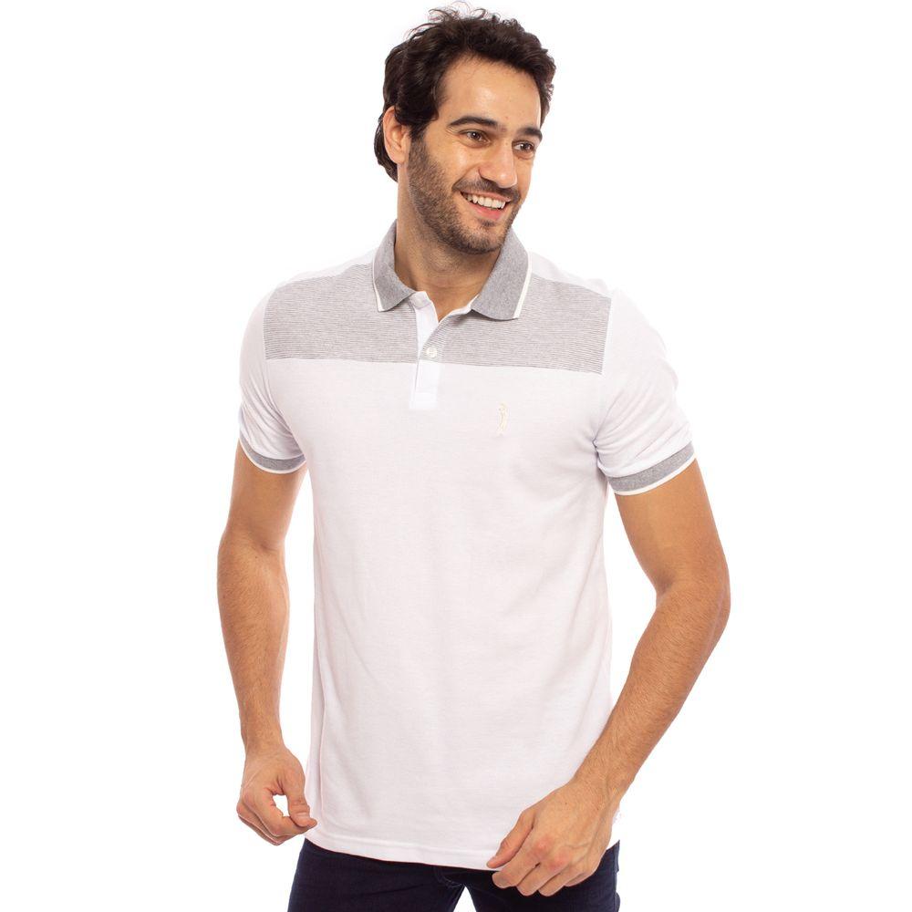 camisa-polo-aleatory-masculina-piquet-com-recorte-listrado ... 2dd49e71f5c54
