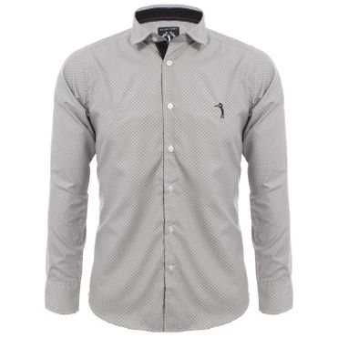 masculino roupas camisas m cinza aleatory