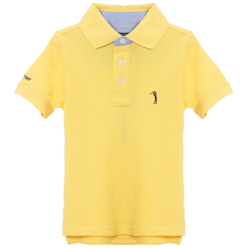 ca2bfd2444 Camisa Polo Amarela Lisa Infantil Aleatory - Aleatory