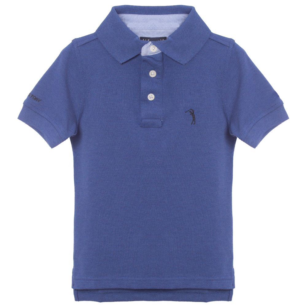 Camisa Polo Aleatory Infantil Lisa Azul Mescla - Aleatory ebd4d9a08f90d