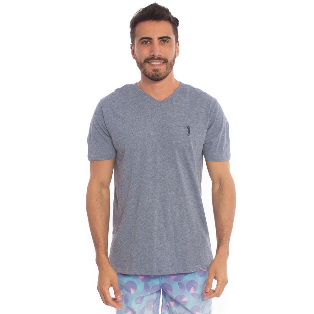 e3cf230a4 Camiseta Aleatory Lisa 1 2 Malha Gola V Mescla - Aleatory