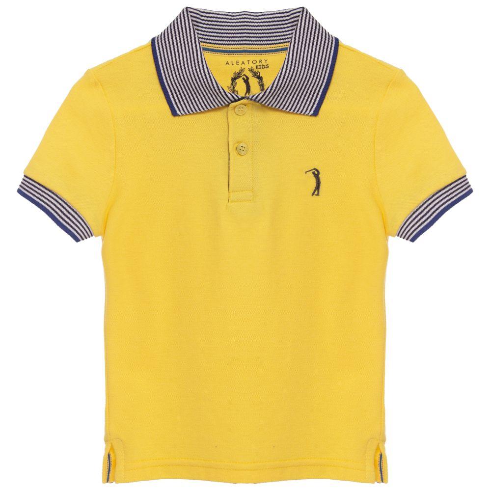 be2bbb136580c Camisa Polo Aleatory infantil Lisa Piquet Gola Listrada Think