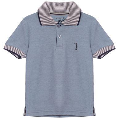 9e454cc1ac Camisa Polo Aleatory infantil Lisa Piquet Gola Listrada Think - Aleatory