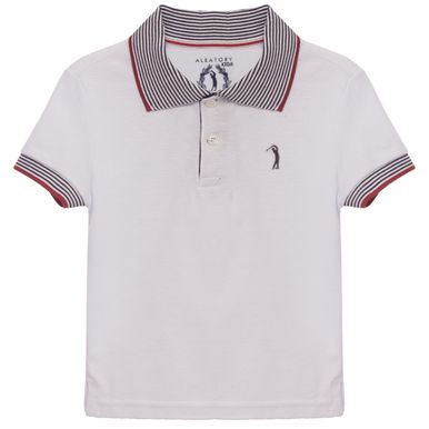 d01f40922 Camisa Polo Aleatory infantil Lisa Piquet Gola Listrada Think - Aleatory