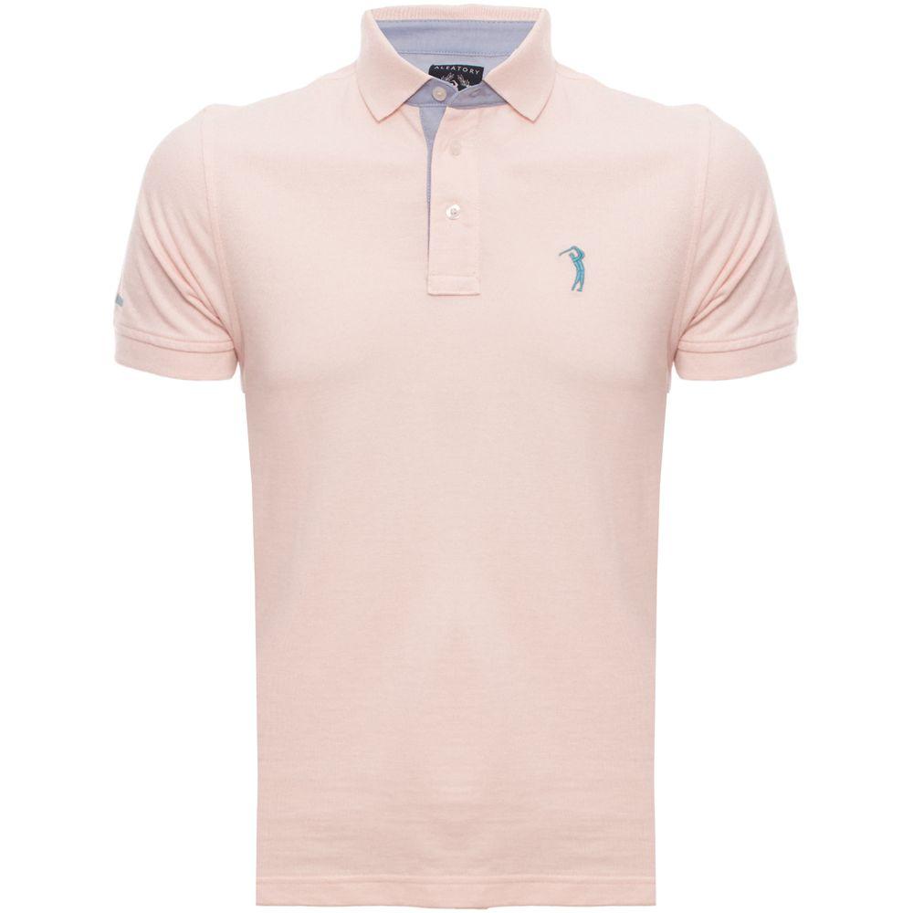 Camisa Polo Rosa Lisa é na Aleatory Store - Aleatory b94dd5d6a52d6