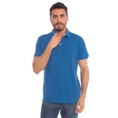 ccc050550d Camisa Polo Azul Lisa é na Aleatory Store - Aleatory