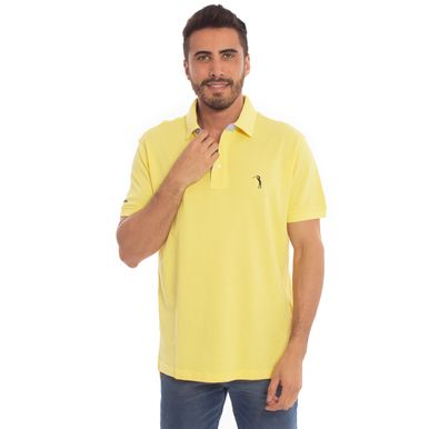 059ea2627c1a4 Camisa Polo Amarela Lisa Aleatory