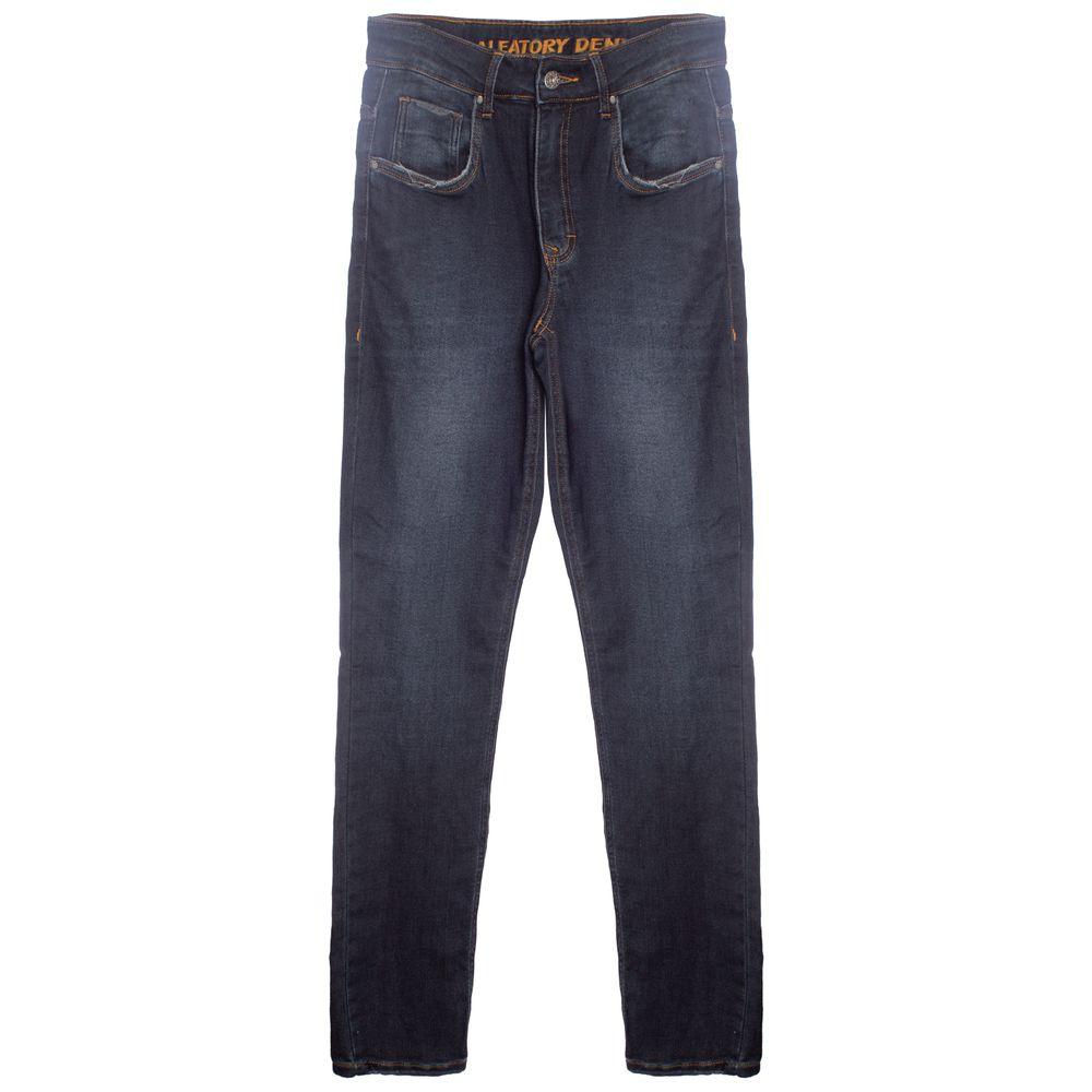 1c5454fe12 Calça Moletom Com Efeito Jeans Aleatory Burn - Aleatory