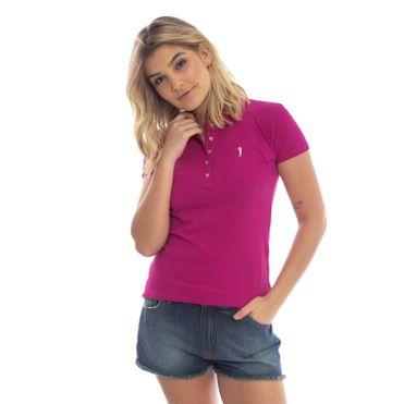 64f89a5c3 Camisa Polo Aleatory Feminina Vinho Lisa