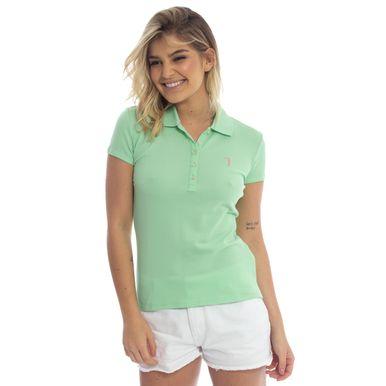 7b3222c52abab Camisa Polo Aleatory Feminina Verde Lisa - Aleatory