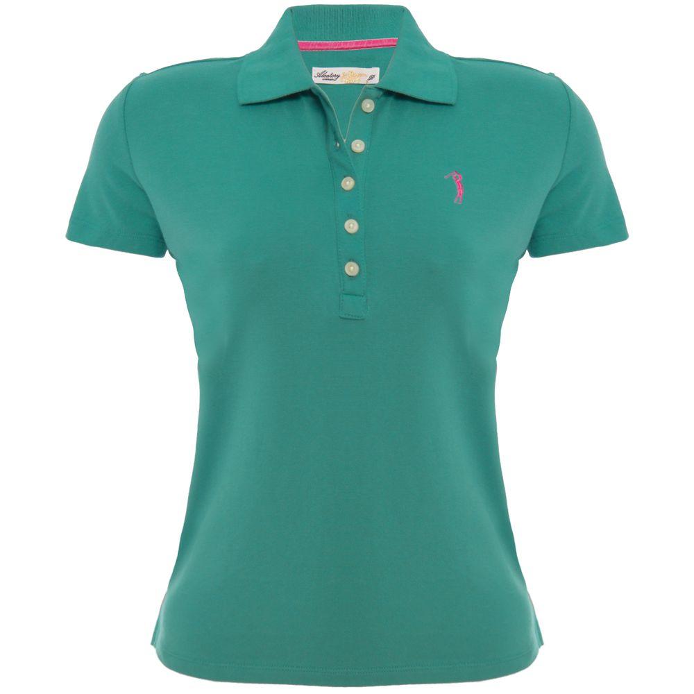 0d5558fa78 Camisa Polo Aleatory Feminina Verde Lisa - Aleatory