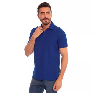 camisa-polo-aleatory-piquet-light-azul-modelo-frete1