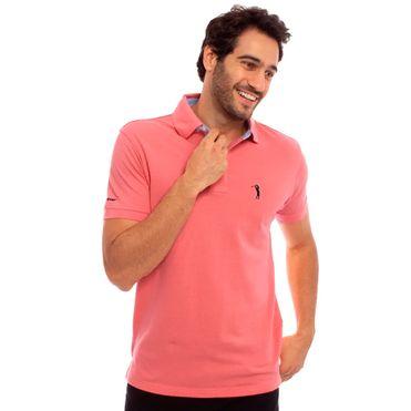 camisa-polo-aleatory-lisa-mescla-laranja-modelo-frente1