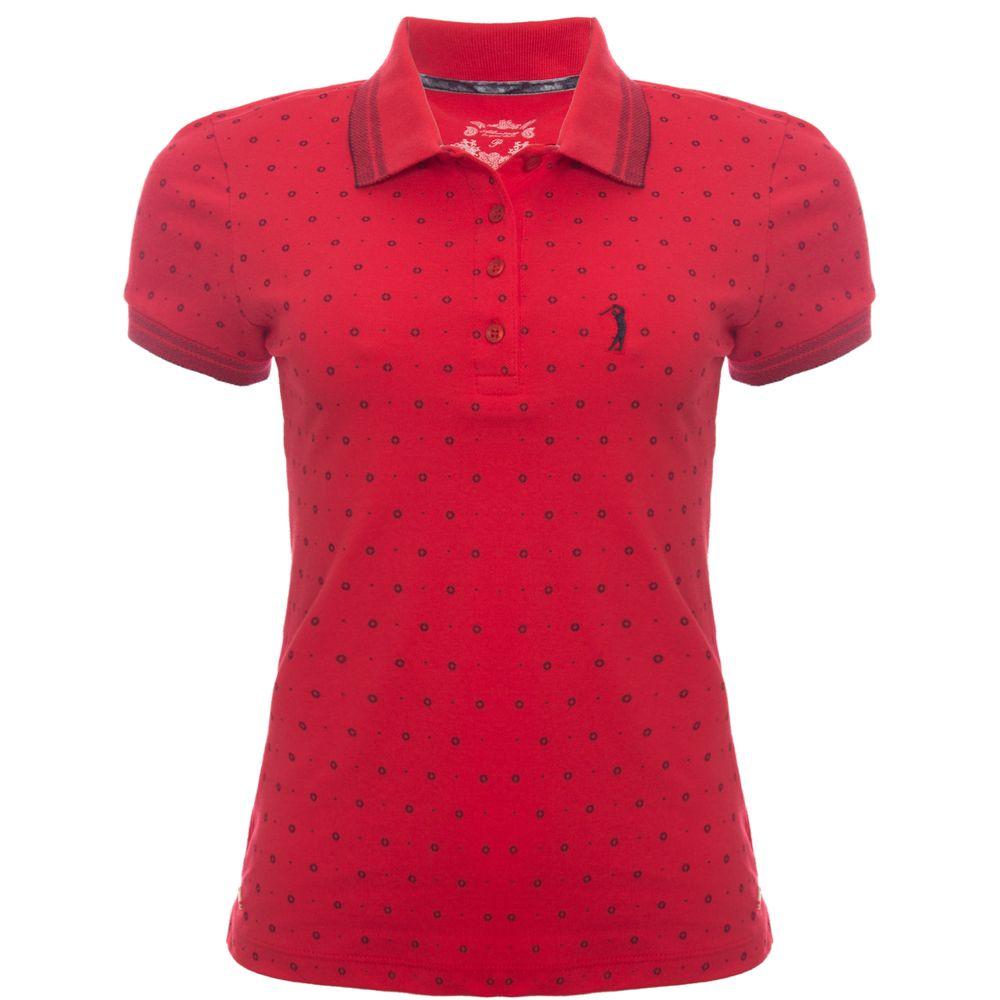 d589618338 Camisa Polo Aleatory Feminina Mini Print Chamber - Aleatory