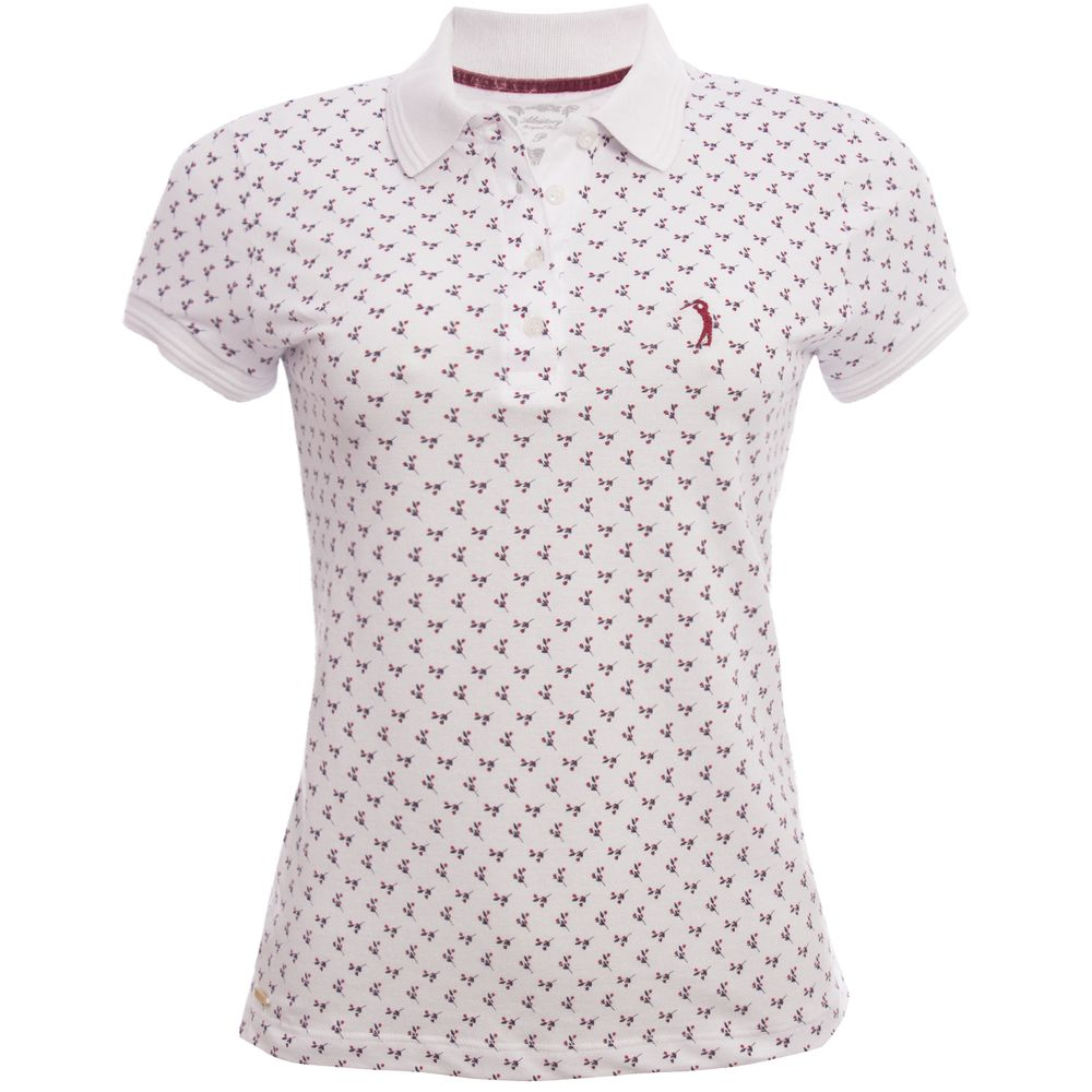 4933b74b30 Camisa Polo Aleatory Feminina Mini Print Flower - Aleatory