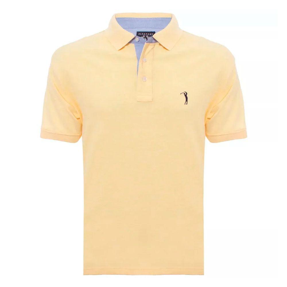 412004e8c5 camisa-polo-aleatory-masculina-lisa-mescla-amarelo-2018-