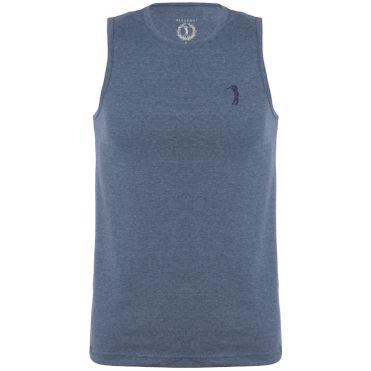 Camiseta Regata Aleatory Básica Mescla Azul 62e37308b4c12