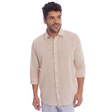 camisa-aleatory-masculina-linho-bege-modelo-1-