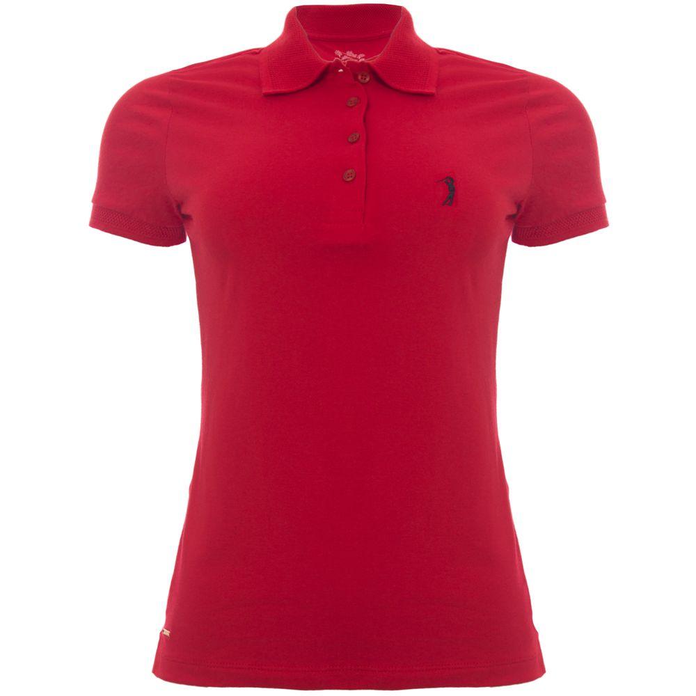 287b4400e4 Camisa Polo Aleatory Feminina Piquet Lisa Lycra Vermelha - Aleatory