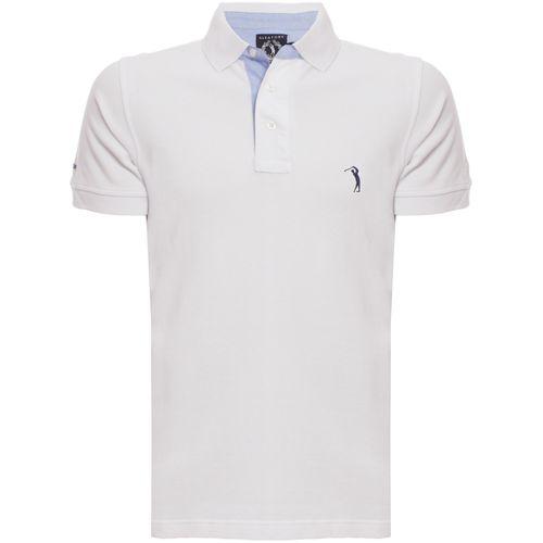 de0abe5c2 Camisa Polo Branca Lisa é na Aleatory Store - Aleatory