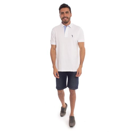 23c2f20a14 Camisa Polo Branca Lisa é na Aleatory Store - Aleatory