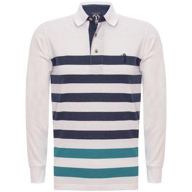 e06aac23658c3 Camisa Polo Aleatory Listrada Manga Longa Share - Aleatory
