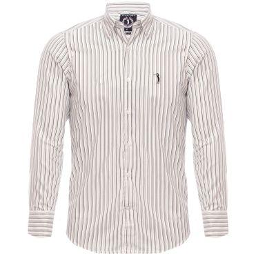 Camisa Aleatory Slim Fit Manga Longa Line 2adb9e3f14b