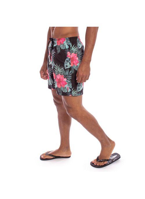shorts-aleatory-masculina-estampada-summer-flower-modelo-2-