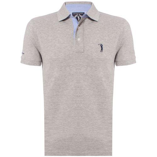 c7d795f7fe ... camisa-polo-aleatory-masculina-lisa-cinza-mescla-2019- ...
