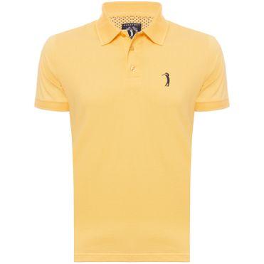 5763119c43e17 camisa-polo-aleatory-masculina-lisa-gola-trancada-amarela- ...